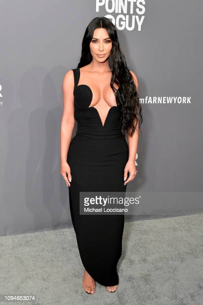Kim Kardashian West attends the amfAR New York Gala 2019 at Cipriani Wall Street on February 6 2019 in New York City