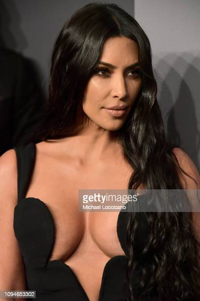 Kim Kardashian West attends the amfAR New York Gala 2019 at Cipriani Wall Street on February 6, 2019 in New York City.