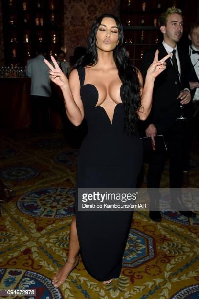 Kim Kardashian West attends the amfAR New York Gala 2019 at Cipriani Wall Street on February 6 2019 in New York City