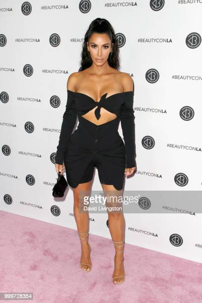 Kim Kardashian West attends the Beautycon Festival LA 2018 at the Los Angeles Convention Center on July 15 2018 in Los Angeles California