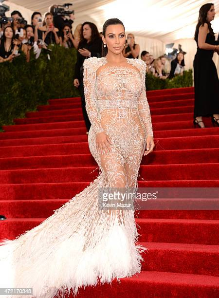 "Kim Kardashian West attends the ""China: Through The Looking Glass"" Costume Institute Benefit Gala at Metropolitan Museum of Art on May 4, 2015 in New..."