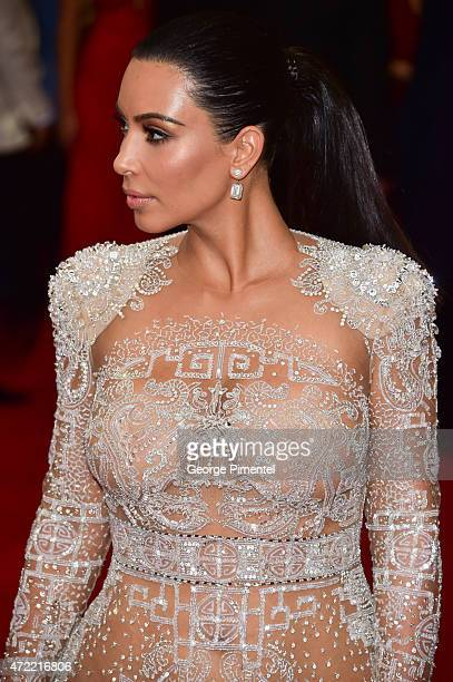 Kim Kardashian West attends the 'China Through The Looking Glass' Costume Institute Benefit Gala at Metropolitan Museum of Art on May 4 2015 in New...