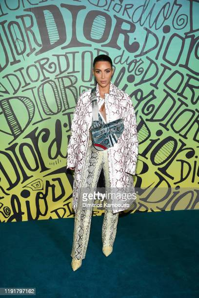 Kim Kardashian West attends the Dior Men's Fall 2020 Runway Show on December 03 2019 in Miami Florida