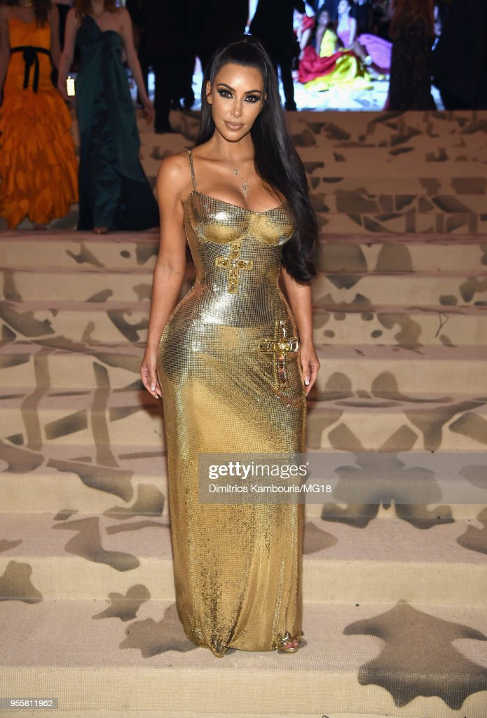 Kim Kardashian West attends the Heavenly Bodies: Fashion & The Catholic Imagination Costume Institute Gala at The Metropolitan Museum of Art on May 7, 2018 in New York City.