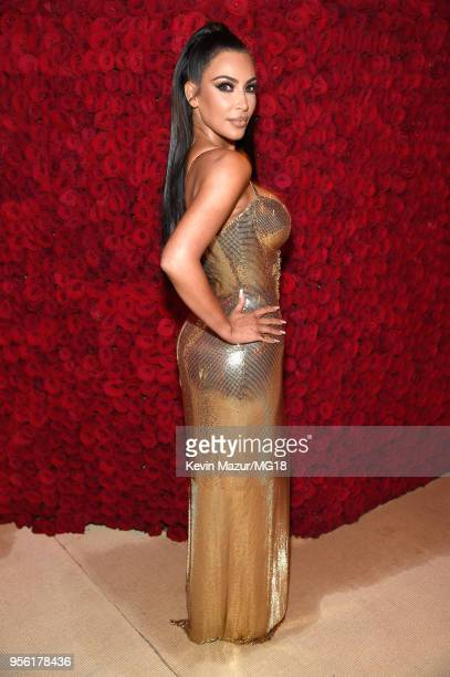 Kim Kardashian West attends the Heavenly Bodies Fashion The Catholic Imagination Costume Institute Gala at The Metropolitan Museum of Art on May 7...