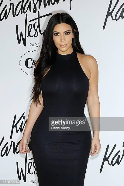 Kim Kardashian West attends the Kim Kardashian West for CA press conference at Shopping Iguatemi on May 11 2015 in Sao Paulo Brazil