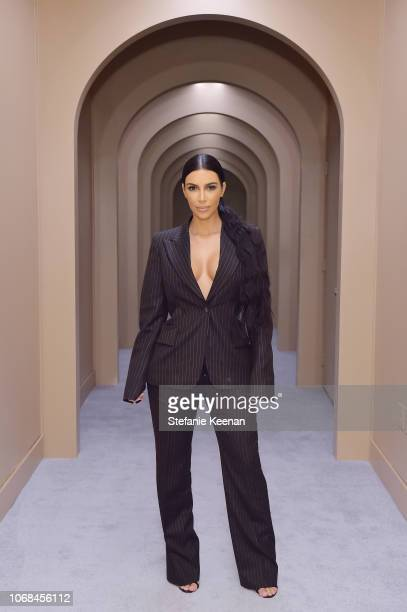 Kim Kardashian West attends the KKW Beauty Pop-Up at South Coast Plaza on December 4, 2018 in Costa Mesa, California.