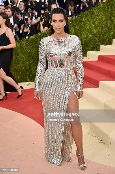 Kim Kardashian West attends the 'Manus x Machina Fashion In An Age Of Technology' Costume Institute Gala at Metropolitan Museum of Art on May 2 2016...