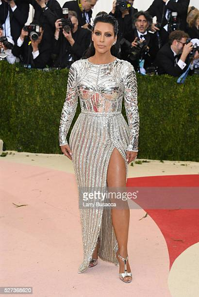 """Kim Kardashian West attends the """"Manus x Machina: Fashion In An Age Of Technology"""" Costume Institute Gala at Metropolitan Museum of Art on May 2,..."""