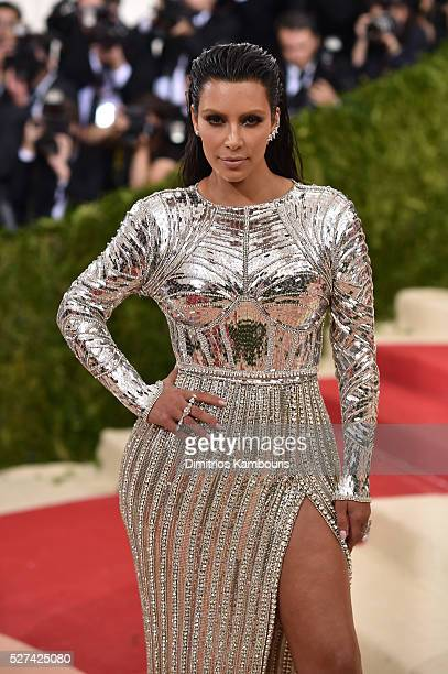 Kim Kardashian West attends the Manus x Machina Fashion In An Age Of Technology Costume Institute Gala at Metropolitan Museum of Art on May 2 2016 in...