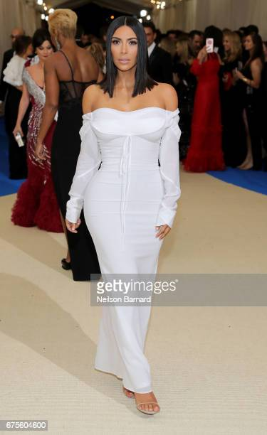 Kim Kardashian West attends the 'Rei Kawakubo/Comme des Garcons Art Of The InBetween' Costume Institute Gala at Metropolitan Museum of Art on May 1...