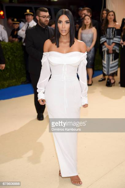 Kim Kardashian West attends the Rei Kawakubo/Comme des Garcons Art Of The InBetween Costume Institute Gala at Metropolitan Museum of Art on May 1...