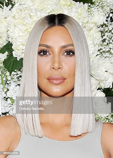 Kim Kardashian West attends The Tot holiday pop-up celebration at Laduree at the Grove on December 4, 2017 in Los Angeles, California.