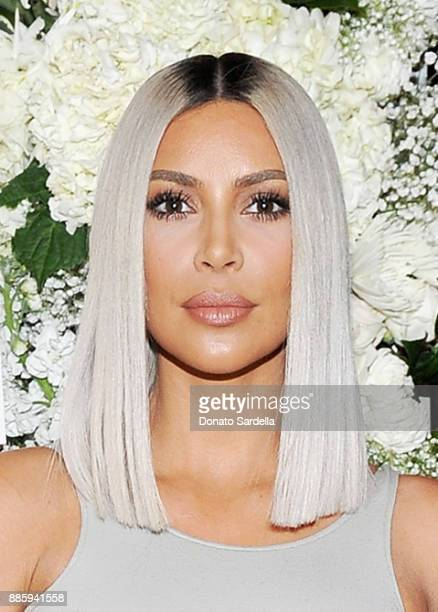 Kim Kardashian West attends The Tot holiday popup celebration at Laduree at the Grove on December 4 2017 in Los Angeles California