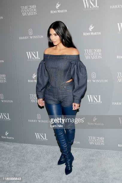 Kim Kardashian West attends the WSJ. Magazine 2019 Innovator Awards sponsored by Harry Winston and Rémy Martinat MOMA on November 06, 2019 in New...