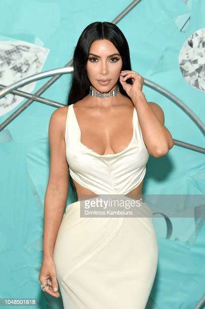Kim Kardashian West attends Tiffany & Co. Celebrates 2018 Tiffany Blue Book Collection, THE FOUR SEASONS OF TIFFANY at Studio 525 on October 9, 2018...