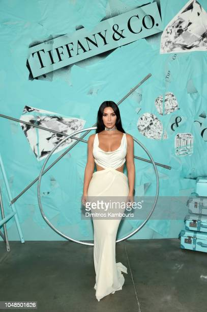 Kim Kardashian West attends Tiffany Co Celebrates 2018 Tiffany Blue Book Collection THE FOUR SEASONS OF TIFFANY at Studio 525 on October 9 2018 in...