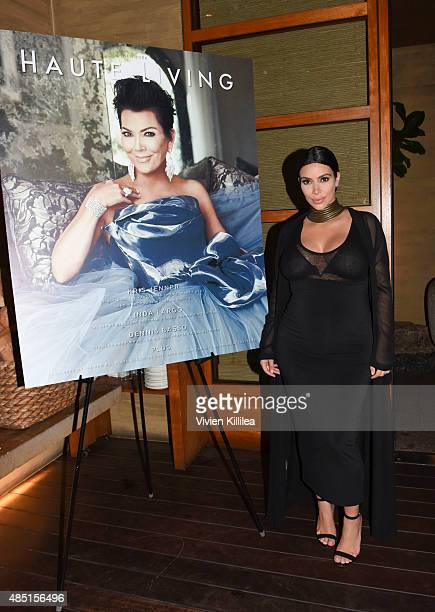 Kim Kardashian West attends Westime Celebrates Kris Jenner's Haute Living Cover at Nobu Malibu on August 24, 2015 in Malibu, California.
