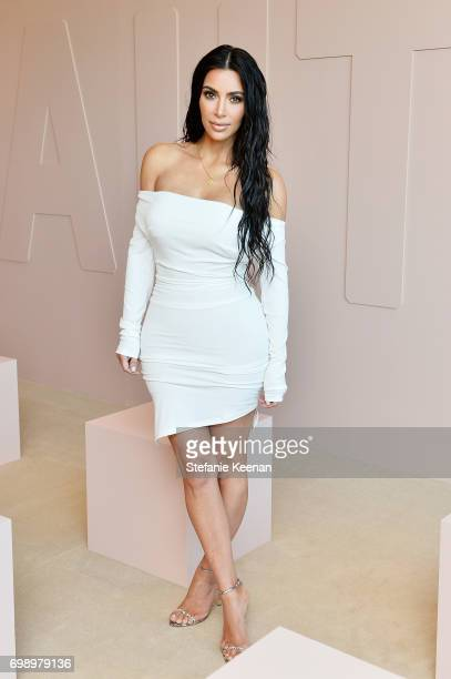 Kim Kardashian West celebrates The Launch Of KKW Beauty on June 20, 2017 in Los Angeles, California.