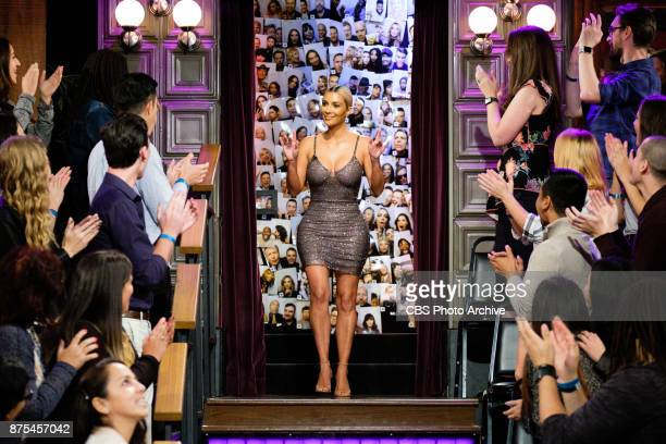 Kim Kardashian West greets the audience during 'The Late Late Show with James Corden' Wednesday November 15 2017 On The CBS Television Network