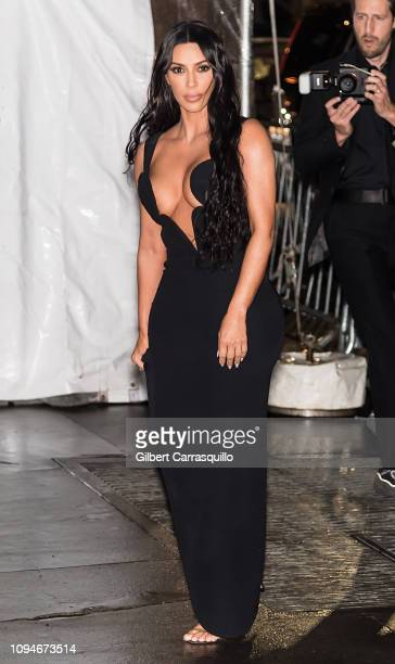 Kim Kardashian West is seen arriving to the amfAR New York Gala 2019 at Cipriani Wall Street on February 6 2019 in New York City