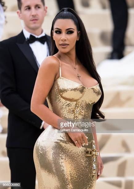 Kim Kardashian West is seen arriving to the Heavenly Bodies Fashion The Catholic Imagination Costume Institute Gala on May 7 2018 in New York City