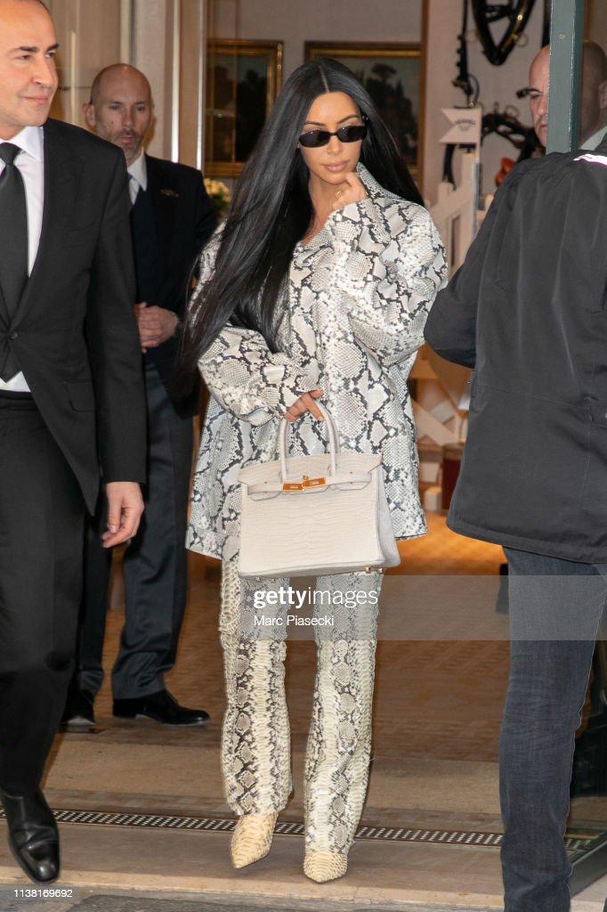 FRA: Kim Kardashian Sighting In Paris - March 25, 2019
