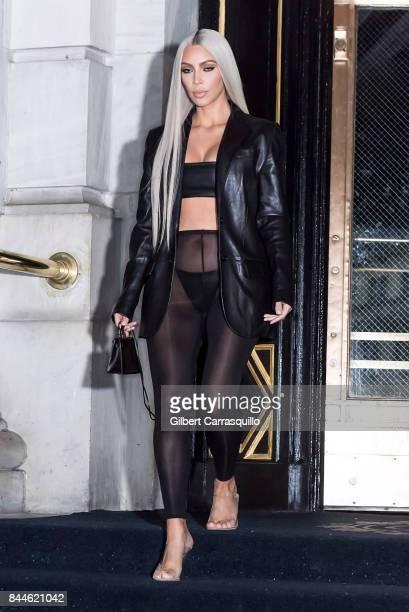 Kim Kardashian West is seen leaving The Plaza Hotel on September 8 2017 in New York City