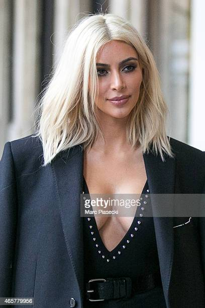 Kim Kardashian West is seen on March 10 2015 in Paris France