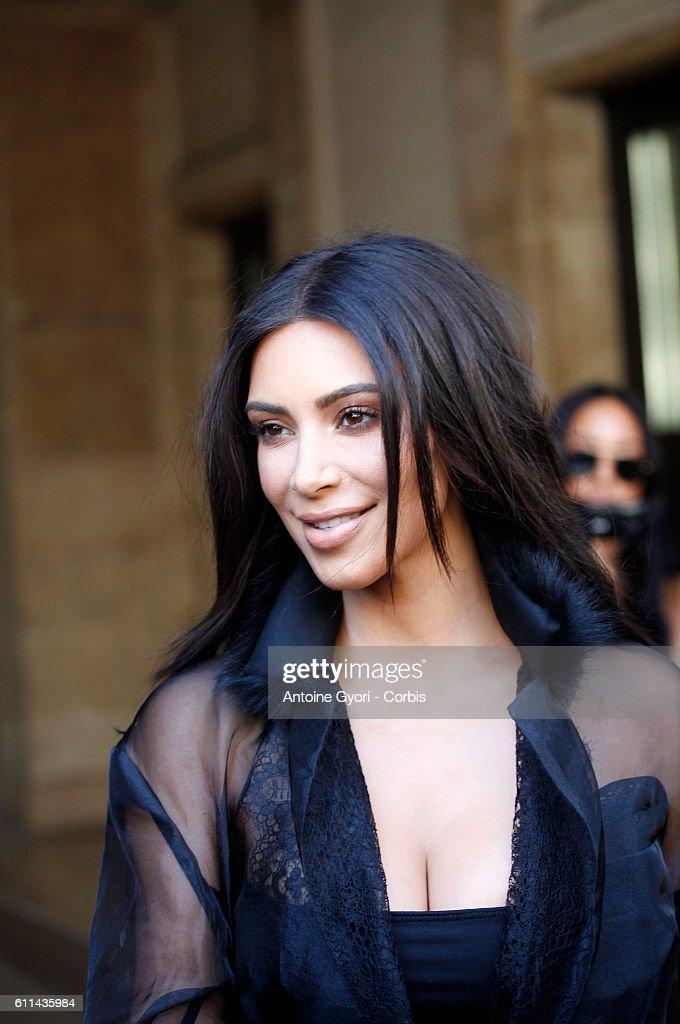 Kim Kardashian West is sighted during Paris Fashion Week on September 28, 2016 in Paris, France.