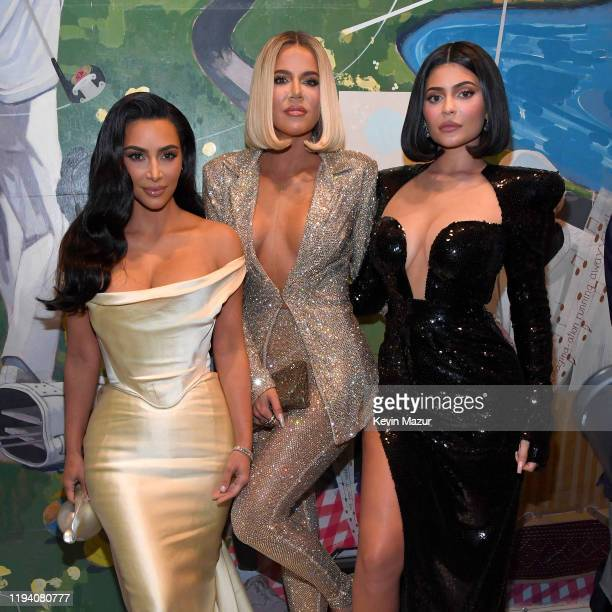 Kim Kardashian West Khloe Kardashian and Kylie Jenner attend Sean Combs 50th Birthday Bash presented by Ciroc Vodka on December 14 2019 in Los...