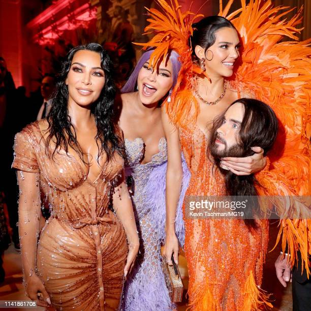 Kim Kardashian West Kylie Jenner and Kendall Jenner attend The 2019 Met Gala Celebrating Camp Notes on Fashion at Metropolitan Museum of Art on May...