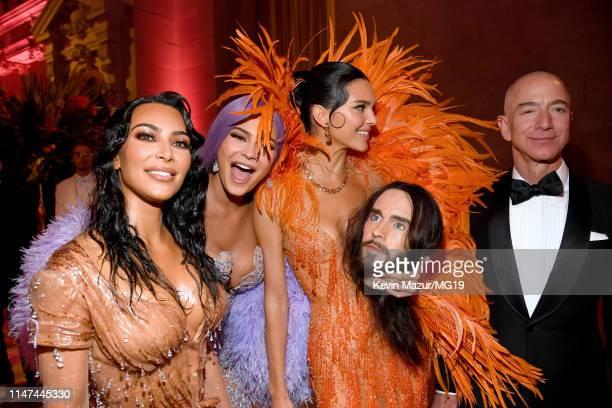 Kim Kardashian West, Kylie Jenner, Kendall Jenner and Jeff Bezos attend The 2019 Met Gala Celebrating Camp: Notes on Fashion at Metropolitan Museum...