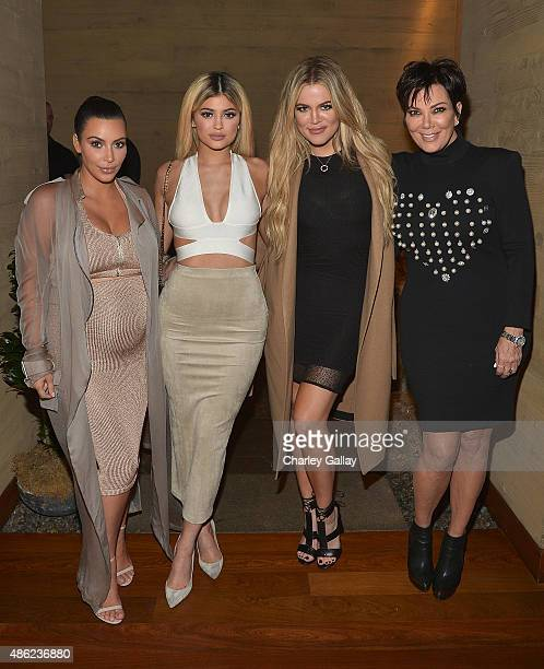 Kim Kardashian West Kylie Jenner Khloe Kardashian and Kris Jenner host a dinner and preview of their new apps launching soon at Nobu Malibu on...