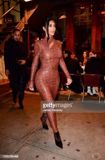Kim Kardashian West leaves Cipriani Broadway on February 7 2019 in New York City