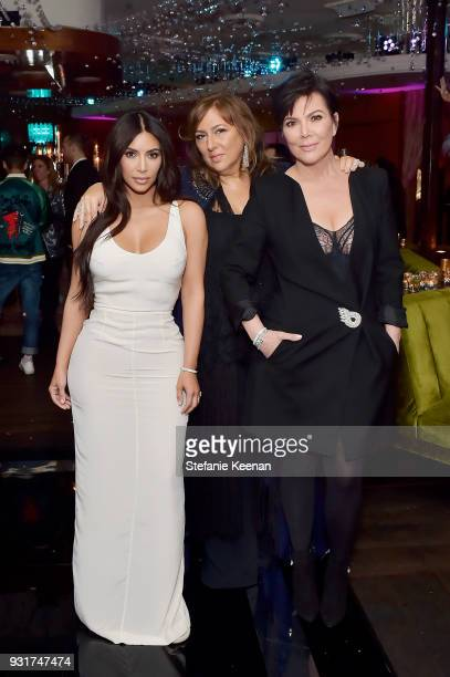 Kim Kardashian West Lorraine Schwartz and Kris Jenner attend Lorraine Schwartz launches The Eye Bangle a new addition to her signature Against Evil...