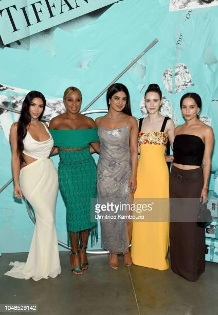 Kim Kardashian West Mary J Blige Priyanka Chopra Rachel Brosnahan and Zoe Kravitz attend Tiffany Co Celebrates 2018 Tiffany Blue Book Collection THE...