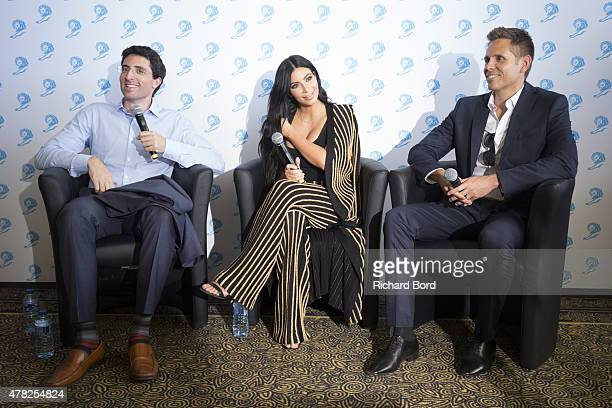 Kim Kardashian West participates in the Sudler forum with Chris Duffey and Niccolo de Masi during the Cannes Lions International Festival of...
