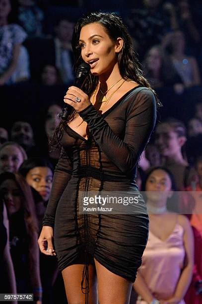 Kim Kardashian West presents onstage at the 2016 MTV Video Music Awards at Madison Square Garden on August 28 2016 in New York City