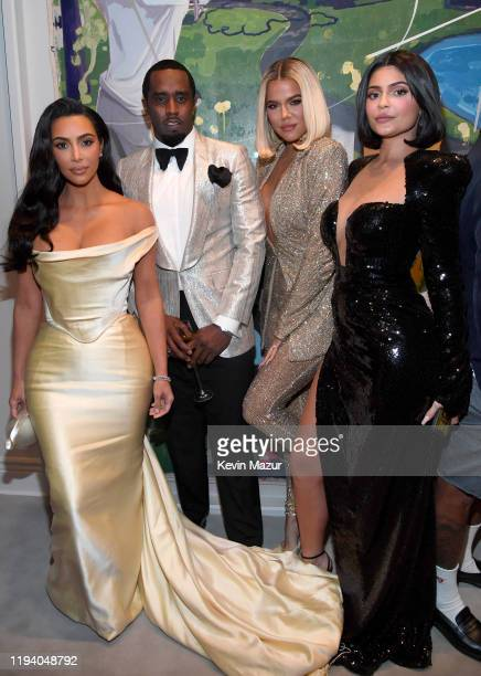 Kim Kardashian West Sean Combs Khloe Kardashian and Kylie Jenner attend Sean Combs 50th Birthday Bash presented by Ciroc Vodka on December 14 2019 in...