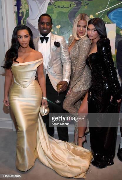 Kim Kardashian West, Sean Combs, Khloe Kardashian, and Kylie Jenner attend Sean Combs 50th Birthday Bash presented by Ciroc Vodka on December 14,...