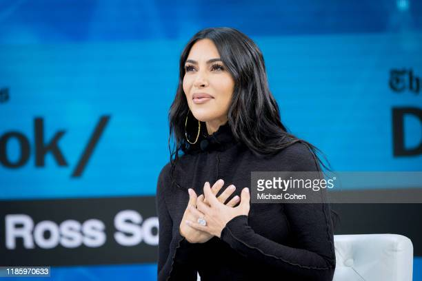 Kim Kardashian West speaks onstage at 2019 New York Times Dealbook on November 06 2019 in New York City