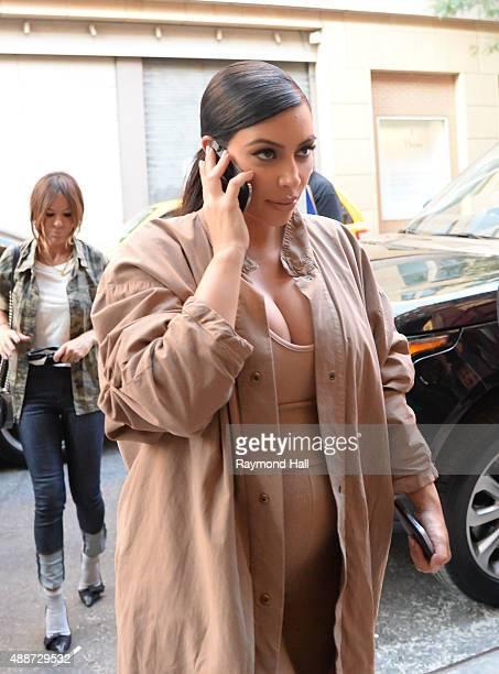 Kim Kashian is seen Soho on September 16 2015 in New York City