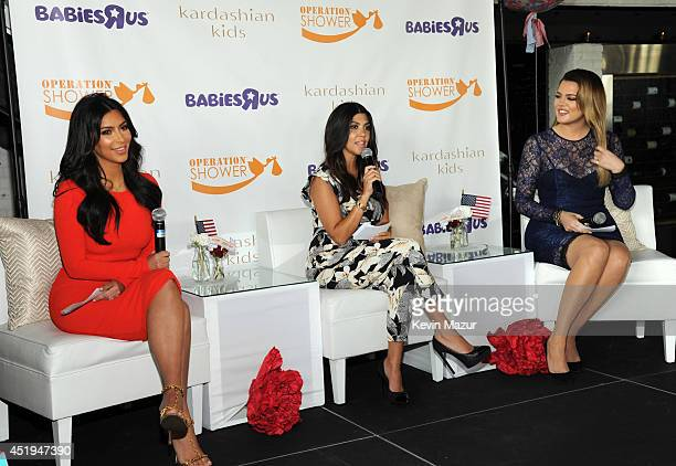 Kim Kourtney and Khloé Kardashian joined BabiesRUs to surprise military momstobe with gifts including items from their Kardashian Kids collection at...