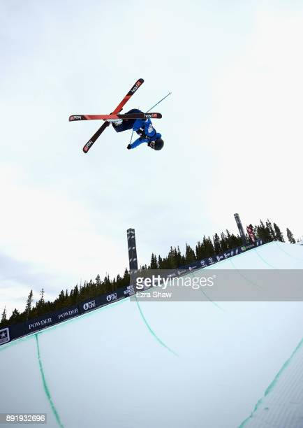 Kim Kwang Jin of South Korea competes in the Superpipe qualification during Day 1 of the Dew Tour on December 13 2017 in Breckenridge Colorado