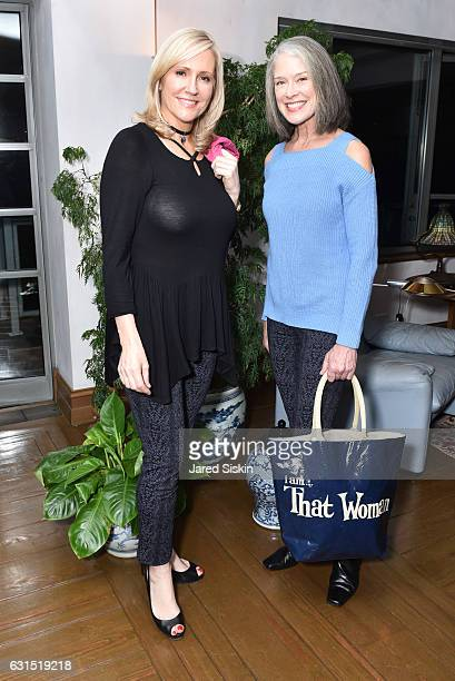 Kim Larson and Nancy Farrell attend The HSN Celebration for Marlo Thomas' Debut Fashion Line That Woman By MARLO THOMAS Launching January 19th at a...