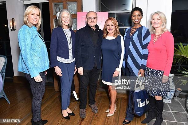 Kim Larson Nancy Farrell Bill Brand RJ Graziano Marlo Thomas Anna Marie Joseph and Bonnie Trompeter attend The HSN Celebration for Marlo Thomas'...