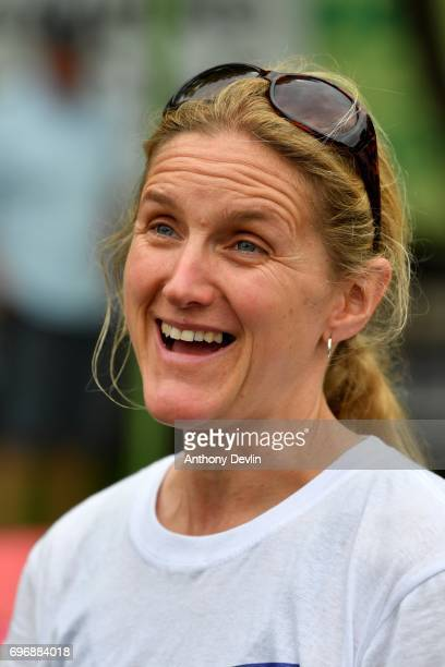 Kim Leadbeater sister of Jo Cox and founder of the MoreInCommon movement attends a Great Get Together event in on June 17 2017 in Heckmondwike...