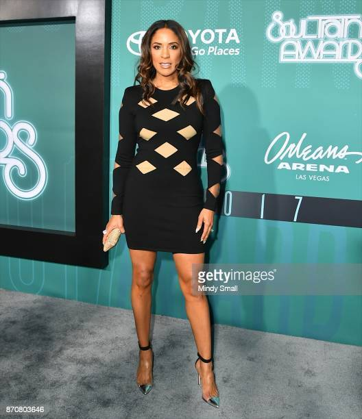 Kim Lewis attends the 2017 Soul Train Music Awards at the Orleans Arena on November 5 2017 in Las Vegas Nevada