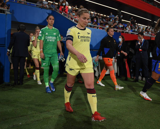 Kim Little of Arsenal before the UEFA Women's Champions League group C match between FC Barcelona and Arsenal WFC at Estadi Johan Cruyff on October...